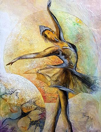 Gemälde Ballerina