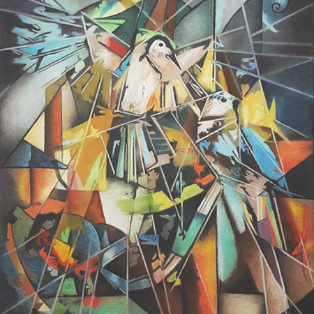 Gemälde Eisvogel