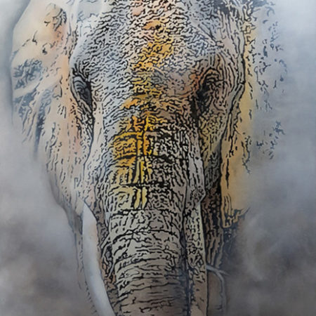 Gemälde Elefant