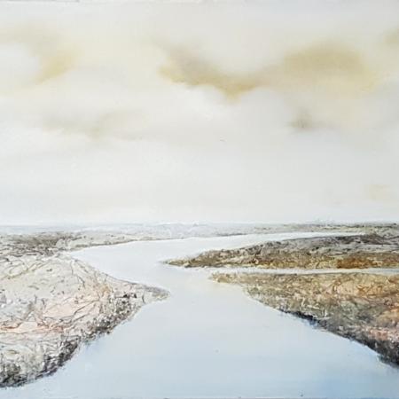Ölgemälde Flusslandschaft