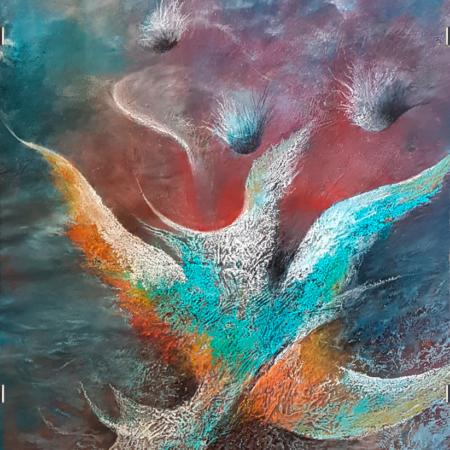 Gemälde Fliegen