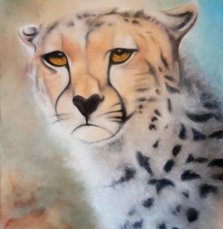 Gemälde Gepard