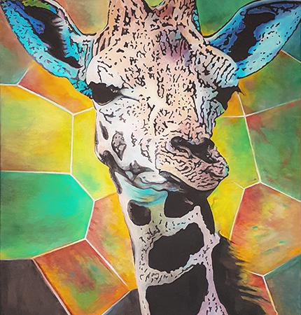 Giraffen Gemälde