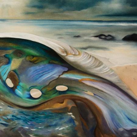 Gemälde Muschel