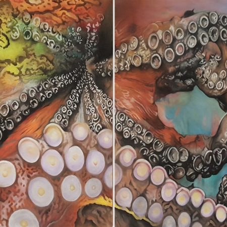 Oktopus Gemälde