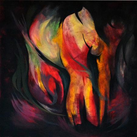Acryl-Gemälde-Urgewalt