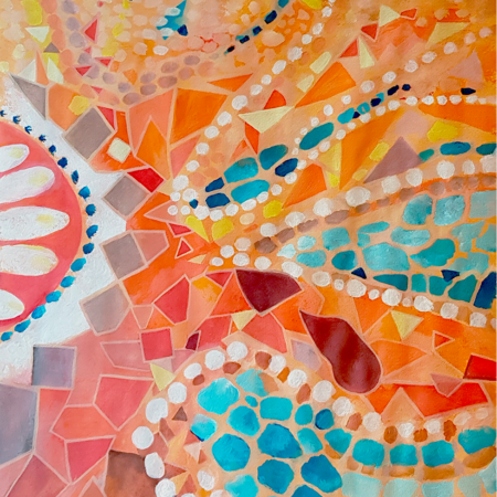 Mosaik Gemälde Arta