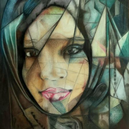 Portrait Gemälde Shamala